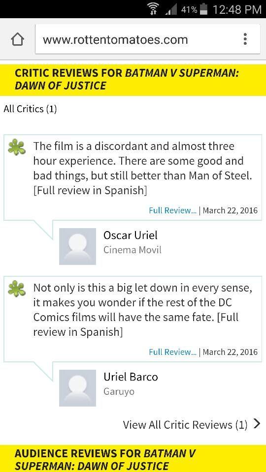 bvs uriel reviews